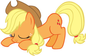 Kneeling Applejack Vector by scrimpeh