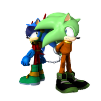 Zonic and Scourge by Cyberphonic4D