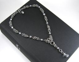 Crystal Chainmaille Necklace by Onagh