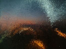 the sunset through blur window by yulia7