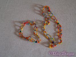 Multi coloured bright set by Moon-Q