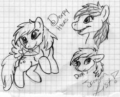 Derpy Hooves Sketches by VintageWolf