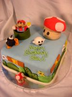 Super Mario Cake by CrystalSanteria