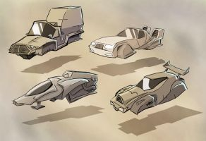 Hover Vehicle Sketches by Sodano