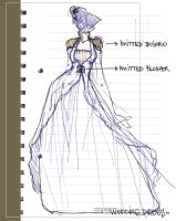 _wedding dress-sketch2_ by red-spot
