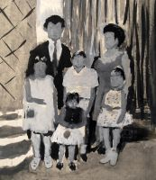 Gouache based on an old family picture by MauricioKanno