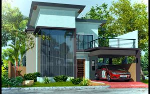 Two Storey Modern House at Antique Re-Visualizatio by arimankodi