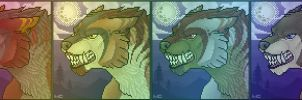 Werewolf Port Colored by CreatureCreatingBabe