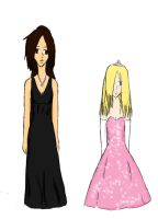 Melania and Gwen prom 2010 by Llovescake