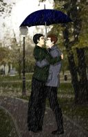 Under Our Umbrella by MidnightFlame