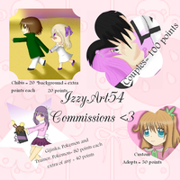 Point Commission Advertisements [Open] by IzzyArt54