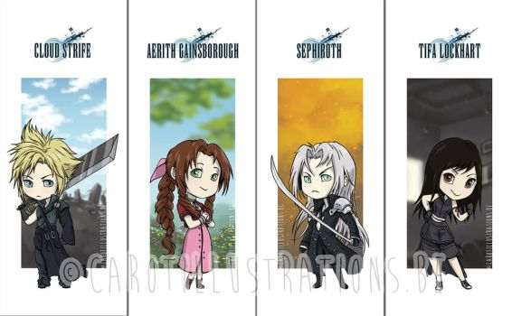 Final Fantasy VII bookmarks by CAROTdrawsthings