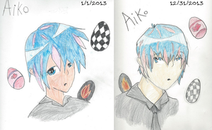 Before and after, 2013 by vulpix15