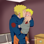 Father and Son ~ Naruto Shippuden by TheMuseumOfJeanette