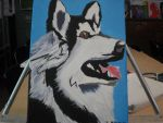 School Project #3: Siberian Husky Pop Art by CloudFlare62