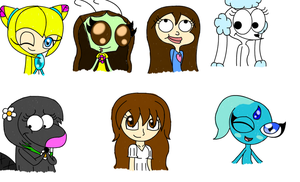 Scribbly Chibi Headshots 8D by LillyTheSeedrian