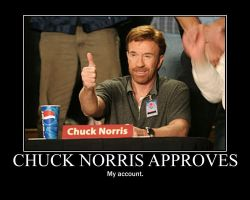 Chuck Norris Approves by Darkman140