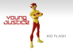 Young Justice Kidflash (static title scene) by MOMOpJonny