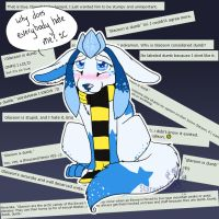 Glaceon gets no Love by Starmuttani