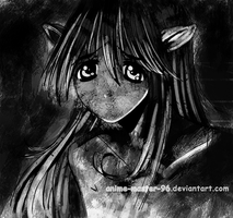 Lucy - Elfen Lied - Inking 3 - Shaded 3 Dim Light by anime-master-96