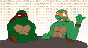 Mikey is Raph's Favorite Bro by evilsherbear