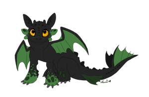Baby Night Fury - commission by Sushi