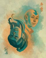 ATLA/LoK: A tale of two avatars Aang version by kahel