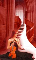 Nocturne Stairway by ChrissieCool