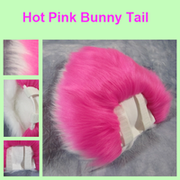 Hot Pink Bunny Tail by Lascivus-Lutra
