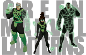 Green MARVEL Lanterns by theCHAMBA