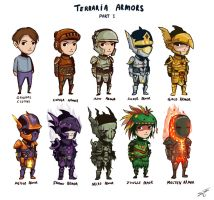Terraria Armors by deadinsane