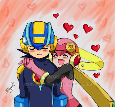 Rockman exe: Cyber Love XD by Rolly-Chan
