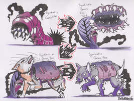 Deadly Symbiotic Caterpillars by The-Quill-Warrior