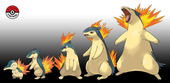 155 - 157 Cyndaquil Line by InProgressPokemon