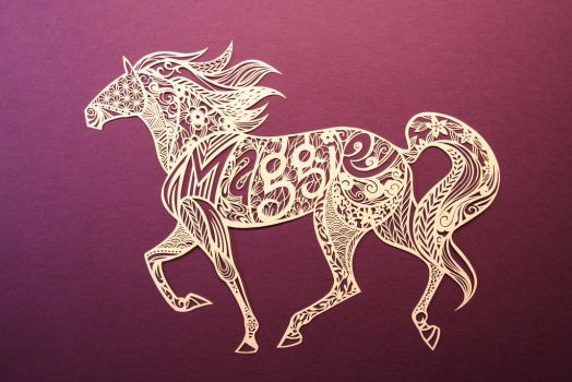 Personalized PAPER CUTTING (Maggie) by Snowboardleopard