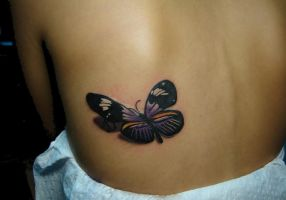 butterfly in purple by scottytat2