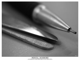 Pencil and Scissors by qiel