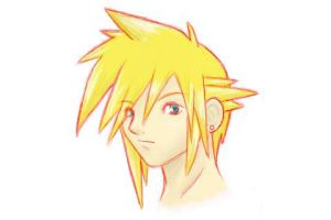 Cloud Strife: Colored by Lunatic-Pandora