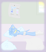 Sleeping Tash :FULL VIEW PLZ: by TshaniHedgie