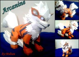 arcanine papercraft by milton22x
