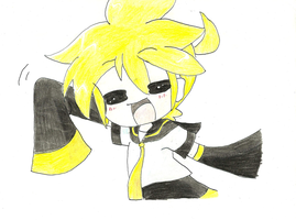 And this is my first Len draw by lenkagamine02