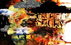 Tropical storm by paperdull