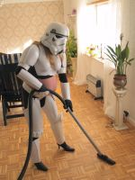 femme stormtrooper housewife by Gothic-Vinter