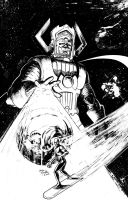 Galactus and Silver Surfer by gavinsmith