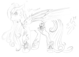 Summer Spirit lineart by Winged-Dragoness