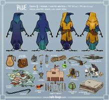 Rue reference sheet by rah-bop