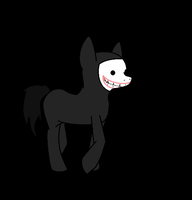 SCP-087 B Pony : BEHIND YOU by MarshallTrap