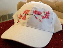 Cherry Blossom Embroidery Hat by Mysticalpchan
