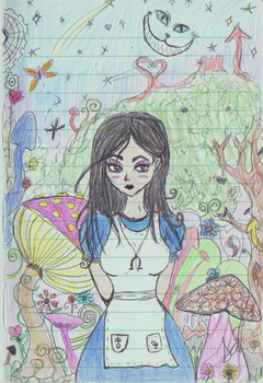 Alice madness returns notebook sketch by SaryRodriguez