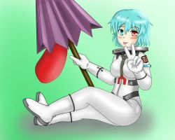 Kogasa in pressure suit by birder0719